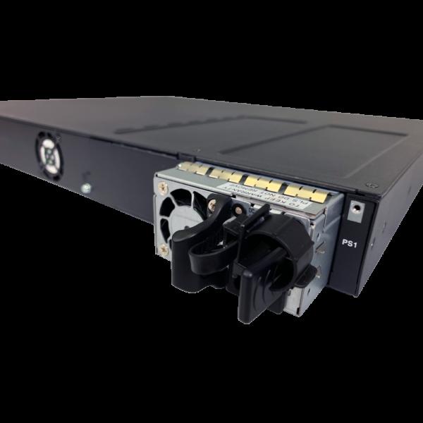 black metal rectangular box power supply module slot closeup SS3GR6028XP