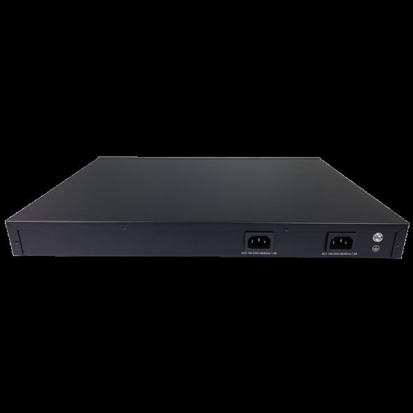 black metal rectangular box back side view dual AC power SS3GR6252X
